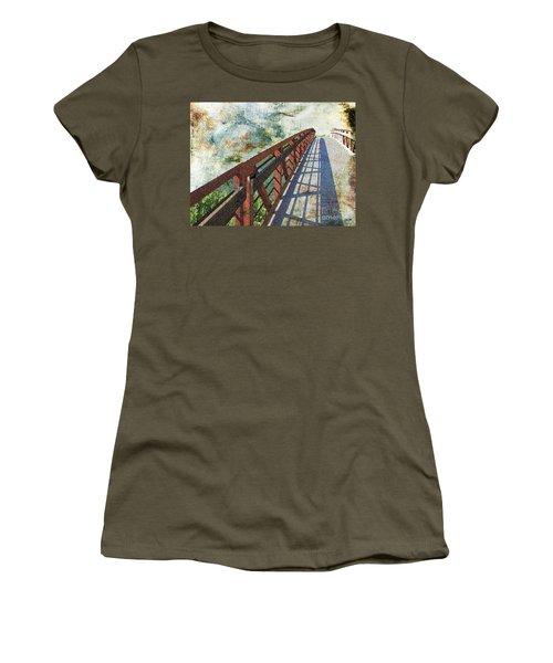 Bridge Over Clouds Women's T-Shirt (Junior Cut) by Deborah Nakano