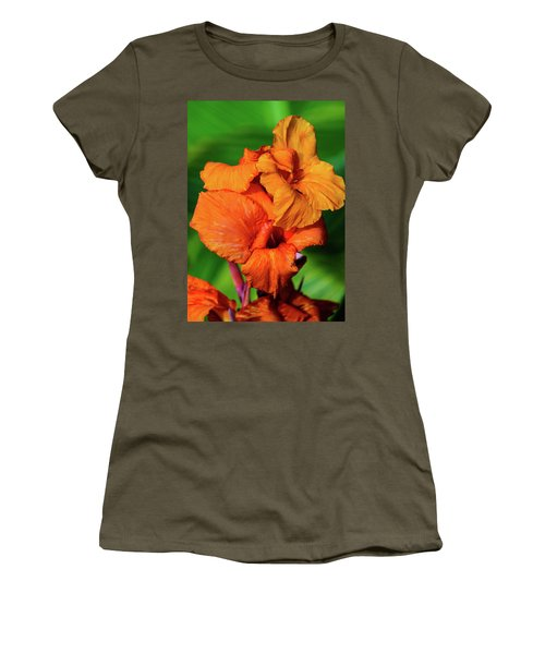 Bright Orange  Women's T-Shirt (Athletic Fit)