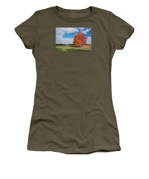 Bright Orange Tree In Va. Women's T-Shirt (Athletic Fit)