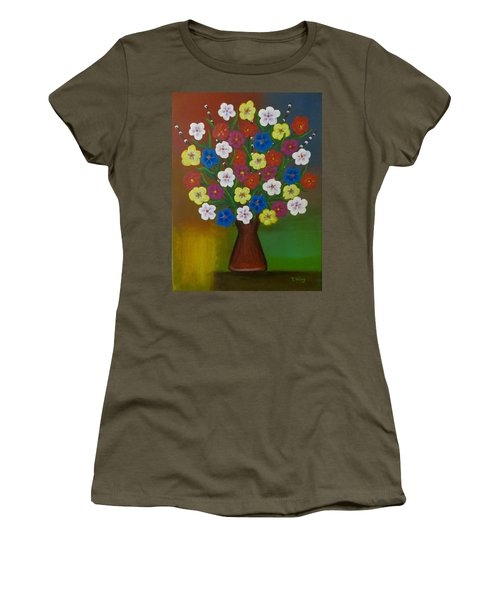 Brilliant Bouquet Women's T-Shirt (Junior Cut)