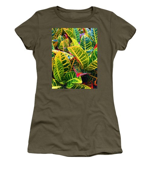 Brilliant Crotons Women's T-Shirt (Junior Cut) by Kay Gilley