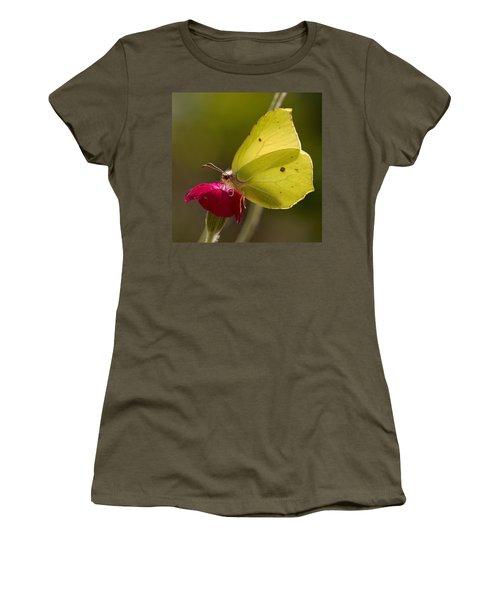 Women's T-Shirt (Junior Cut) featuring the photograph Brimstone 2 by Jouko Lehto