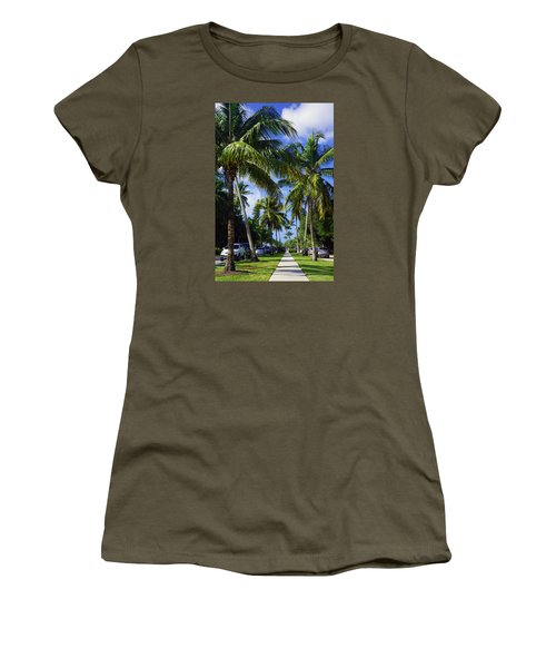 Broad Avenue South, Old Naples Women's T-Shirt (Junior Cut) by Robb Stan