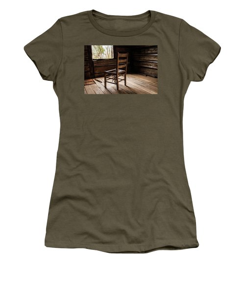 Women's T-Shirt featuring the photograph Broken Chair by Doug Camara