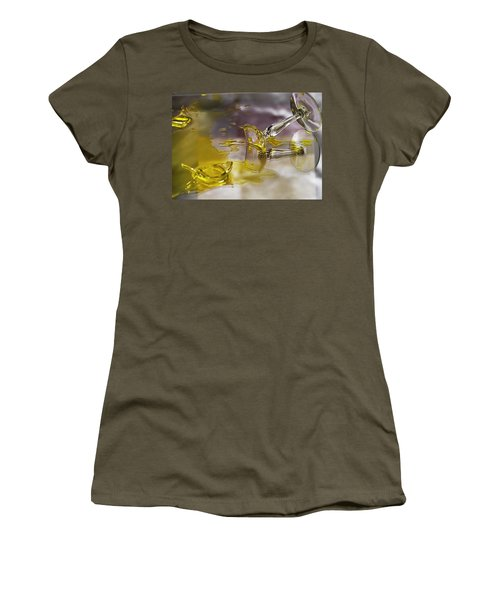 Women's T-Shirt (Junior Cut) featuring the photograph Broken Glass by Susan Capuano