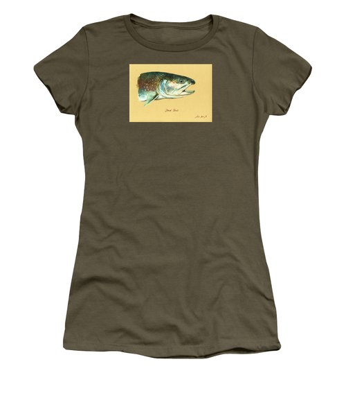 Brook Trout Watercolor Women's T-Shirt