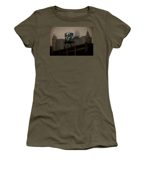Women's T-Shirt (Athletic Fit) featuring the photograph Brooklyn Water Tower by Chris Lord