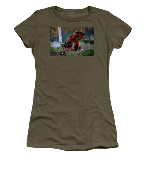 Brown Bear And Magpie Women's T-Shirt
