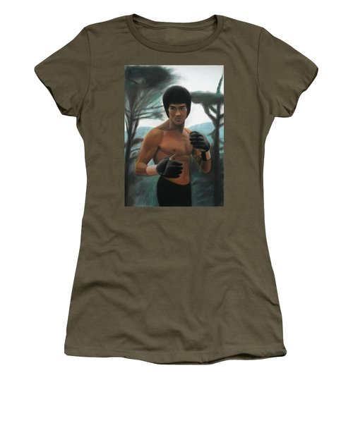 Bruce Lee - The Concentration  Women's T-Shirt (Athletic Fit)