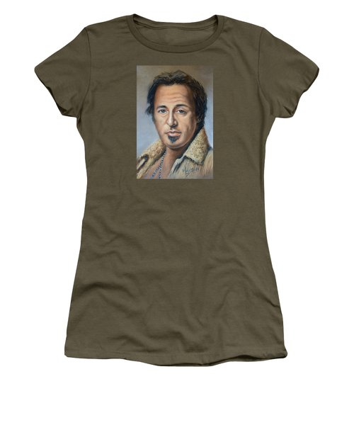 Bruce Springsteen Portrait Women's T-Shirt (Athletic Fit)