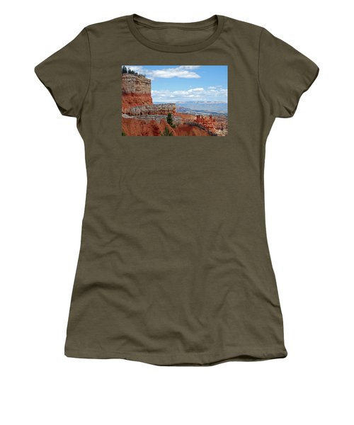 Bryce Canyon Women's T-Shirt (Junior Cut) by Nancy Landry