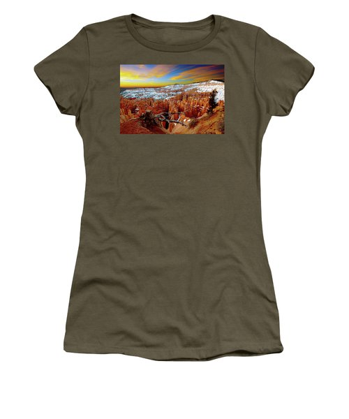 Women's T-Shirt (Athletic Fit) featuring the photograph Bryce Canyon Sunrise by Norman Hall