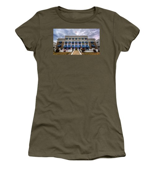 Women's T-Shirt (Junior Cut) featuring the photograph Buckstaff Bathhouse - Christmas by Stephen Stookey
