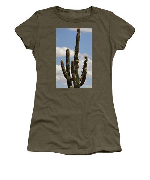 Budding Saguaro Cactus Babies Women's T-Shirt (Athletic Fit)