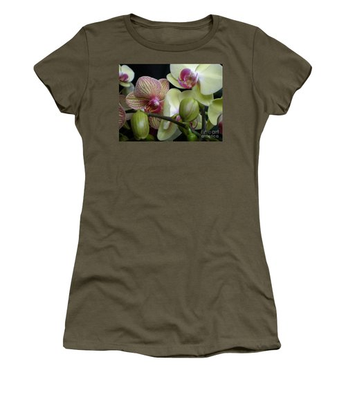 Budding Orchids  Women's T-Shirt (Athletic Fit)