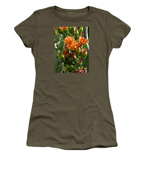 Buds N Blossoms Women's T-Shirt (Junior Cut) by Kathy McClure