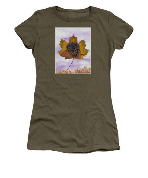 Buffalo Profile Women's T-Shirt (Junior Cut) by Ralph Root