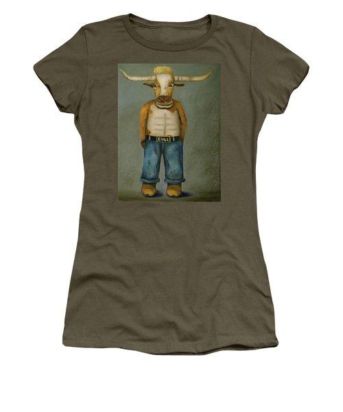 Bull Denim Women's T-Shirt (Junior Cut) by Leah Saulnier The Painting Maniac