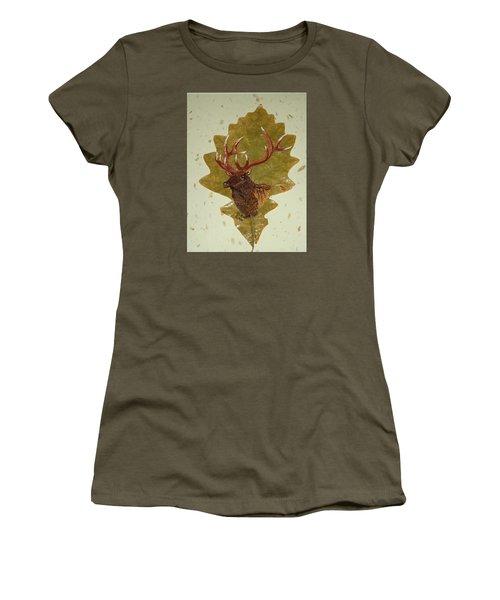 Bull Elk Women's T-Shirt (Junior Cut) by Ralph Root