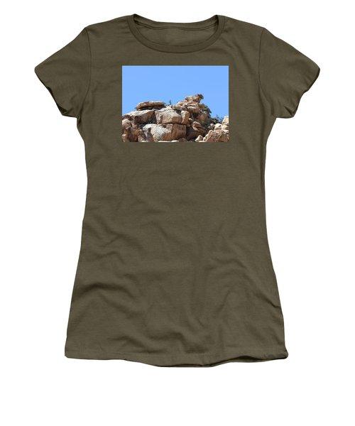 Bull From Joshua Tree Women's T-Shirt (Junior Cut) by Viktor Savchenko