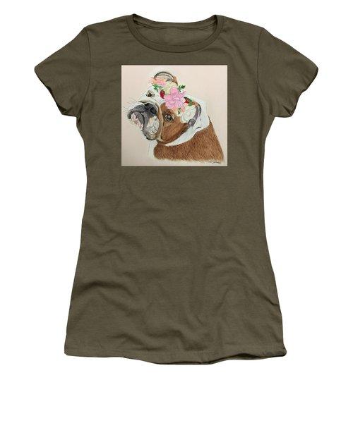 Bulldog Bridesmaid Women's T-Shirt (Athletic Fit)