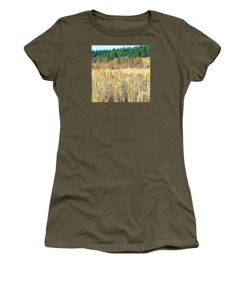 Bullrushes In Late November Women's T-Shirt (Junior Cut) by Tobeimean Peter