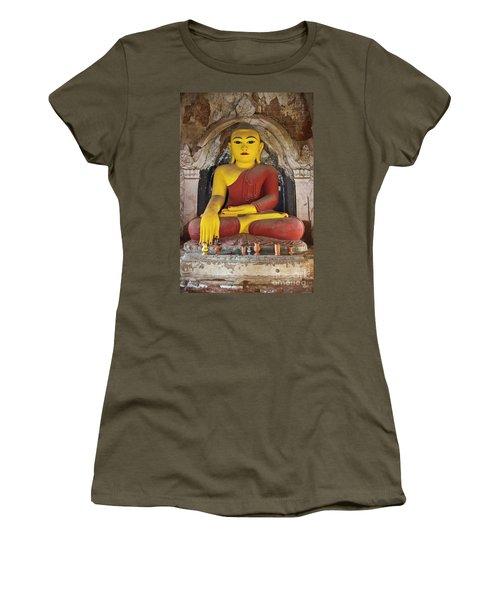 Women's T-Shirt (Junior Cut) featuring the photograph Burma_d1150 by Craig Lovell