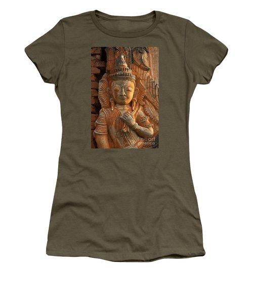 Women's T-Shirt (Junior Cut) featuring the photograph Burma_d187 by Craig Lovell