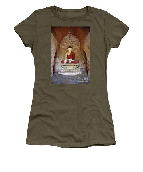 Women's T-Shirt (Junior Cut) featuring the photograph Burma_d2078 by Craig Lovell