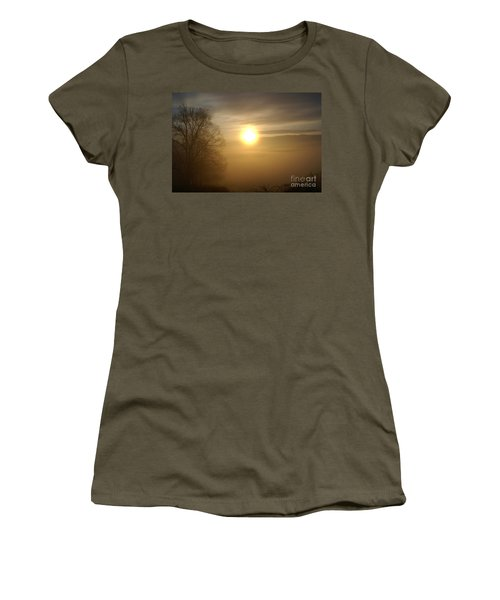 Burning Off The Fog Women's T-Shirt (Athletic Fit)