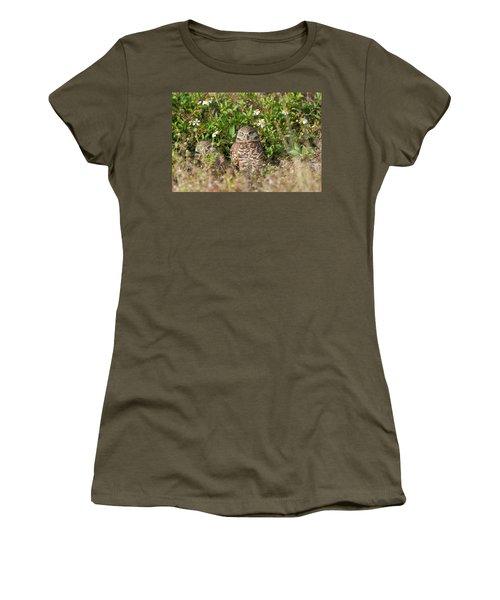 Burrowing Owls Outside Their Den Women's T-Shirt