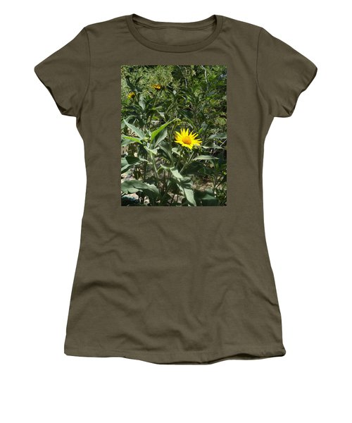 Burst Of Sun Flower Women's T-Shirt (Athletic Fit)