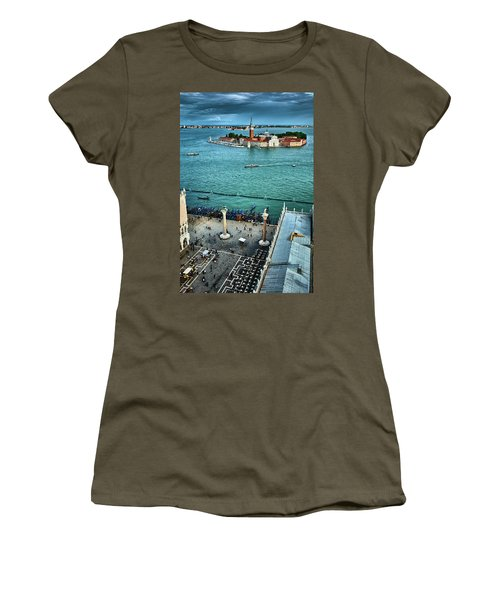 Piazza San Marco And San Giorgio Di Maggiore From The Bell Tower In Venice, Italy Women's T-Shirt