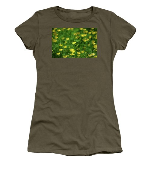Buttercup Field- Butler Creek Trail- Gresham- Oregon Women's T-Shirt