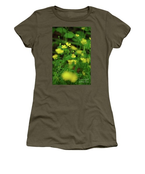 Buttercup Grouping- Vertical- Butler Creek Trail Women's T-Shirt