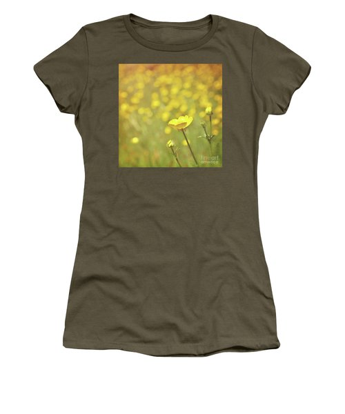 Women's T-Shirt (Junior Cut) featuring the photograph Buttercups by Lyn Randle
