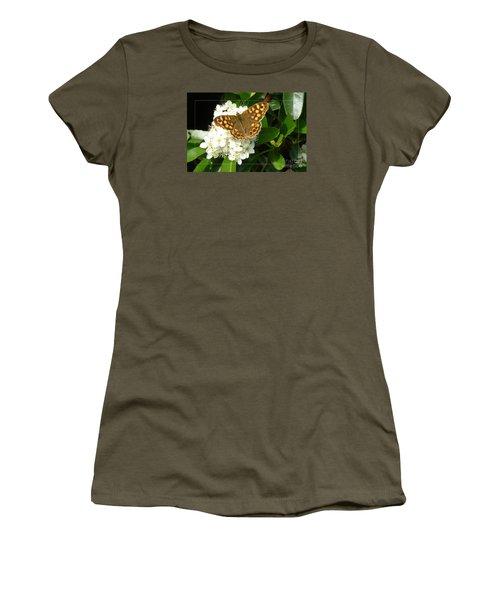 Women's T-Shirt (Junior Cut) featuring the photograph Butterfly 1 by Jean Bernard Roussilhe