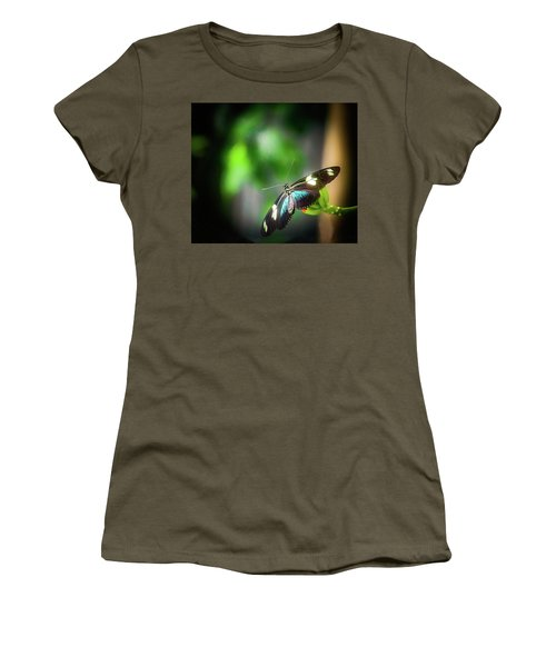 Women's T-Shirt featuring the photograph Butterfly At Cleveland Botanical Gardens by Richard Goldman
