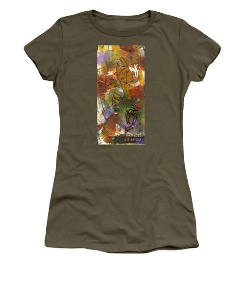 Women's T-Shirt (Junior Cut) featuring the mixed media Butterfly Kisses by Angela L Walker