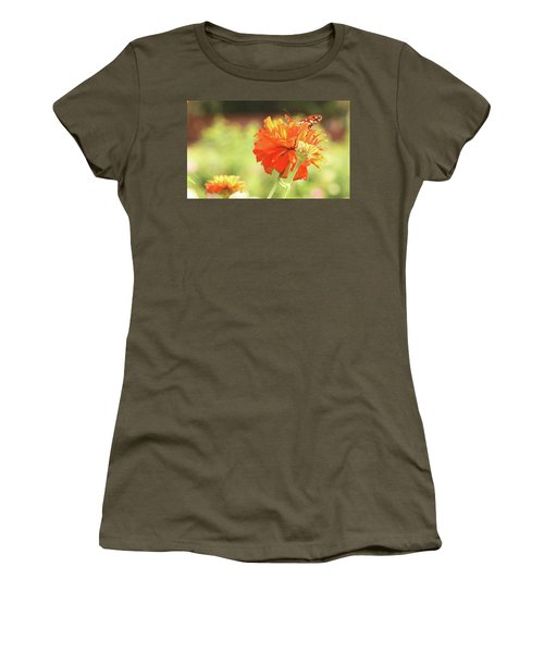 Butterfly Peek-a-boo Women's T-Shirt (Athletic Fit)