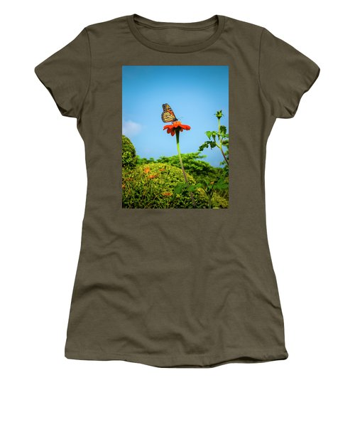 Butterfly Perch Women's T-Shirt (Athletic Fit)