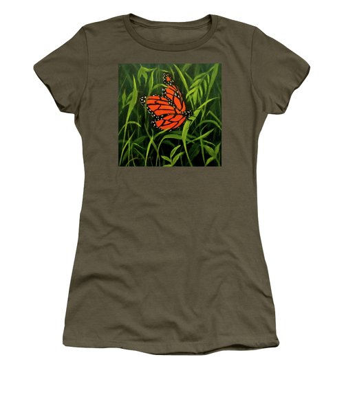 Butterfly Women's T-Shirt (Junior Cut) by Roseann Gilmore