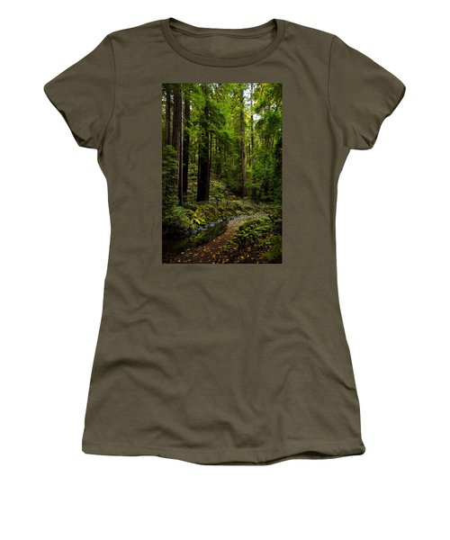 By The Stream In Muir Woods Women's T-Shirt
