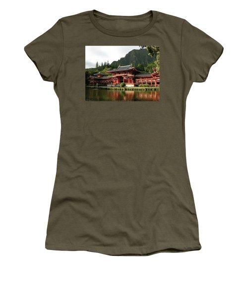 Women's T-Shirt (Junior Cut) featuring the photograph Byodo-in Temple, Oahu, Hawaii by Mark Czerniec