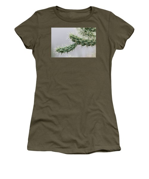 Cactus Branch With Wet White Long Needles Women's T-Shirt