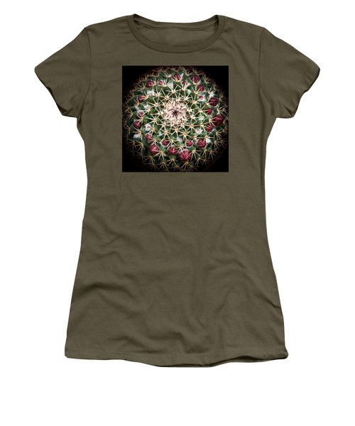 Women's T-Shirt (Junior Cut) featuring the photograph Cactus  Flower by Catherine Lau