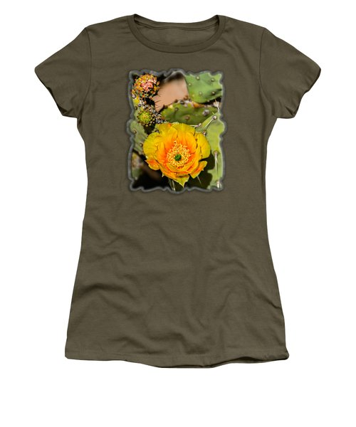 Cactus Flower Op46 Women's T-Shirt