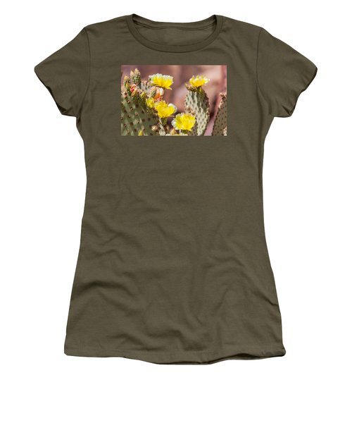 Cactus Flowers Women's T-Shirt (Athletic Fit)