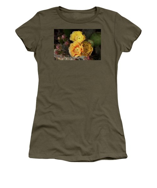 Yellow Cactus Flowers Women's T-Shirt