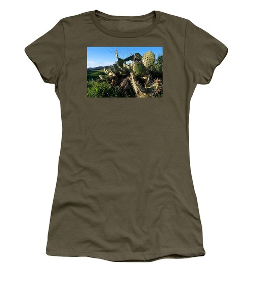 Women's T-Shirt (Athletic Fit) featuring the photograph Cactus In The Mountains by Matt Harang